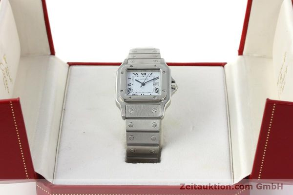Used luxury watch Cartier Santos steel automatic Kal. ETA 2671  | 142401 07
