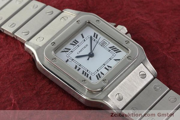 Used luxury watch Cartier Santos steel automatic Kal. ETA 2671  | 142401 12