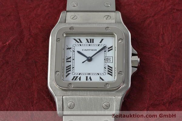 Used luxury watch Cartier Santos steel automatic Kal. ETA 2671  | 142401 13