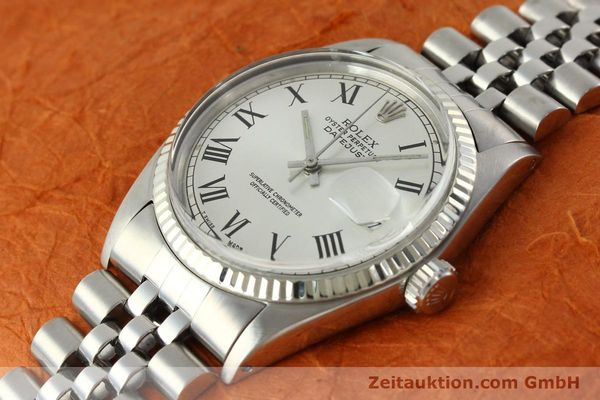 Used luxury watch Rolex Datejust steel / white gold automatic Kal. 1570  | 142402 01