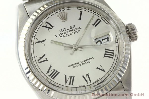 Used luxury watch Rolex Datejust steel / white gold automatic Kal. 1570  | 142402 02