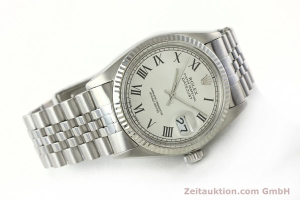 Used luxury watch Rolex Datejust steel / white gold automatic Kal. 1570  | 142402 03