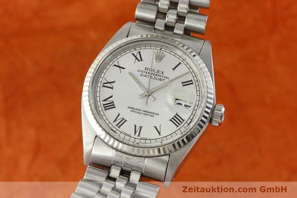 Used luxury watch Rolex Datejust steel / white gold automatic Kal. 1570  | 142402 04