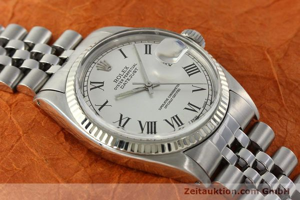 Used luxury watch Rolex Datejust steel / white gold automatic Kal. 1570  | 142402 13