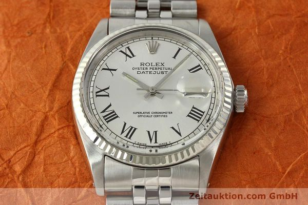 Used luxury watch Rolex Datejust steel / white gold automatic Kal. 1570  | 142402 14