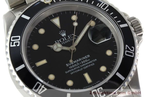 Used luxury watch Rolex Submariner steel automatic Kal. 3135 Ref. 16610  | 142405 02