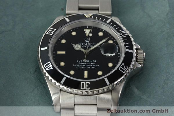 Used luxury watch Rolex Submariner steel automatic Kal. 3135 Ref. 16610  | 142405 15
