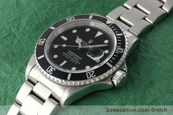 Used luxury watch Rolex Submariner steel automatic Kal. 3135 Ref. 16610  | 142406 01