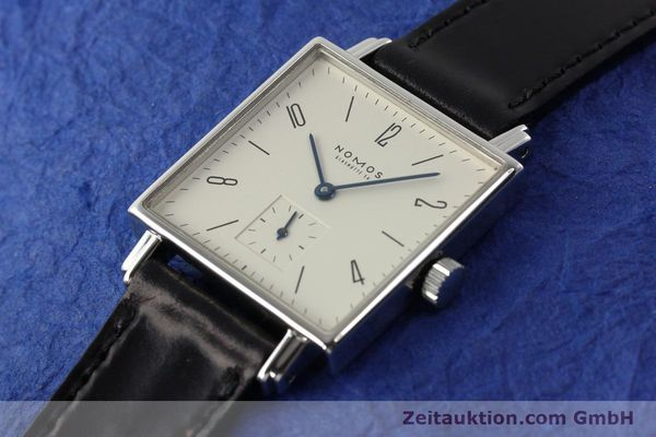 Used luxury watch Nomos Tetra steel manual winding Kal. ETA 7001  | 142408 01