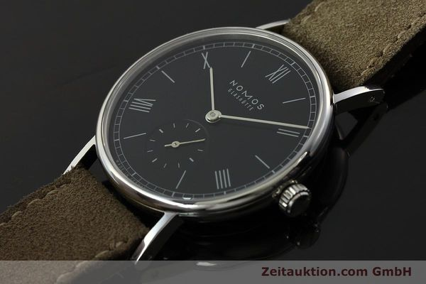 Used luxury watch Nomos Ludwig steel manual winding Kal. Alpha 73916  | 142410 01