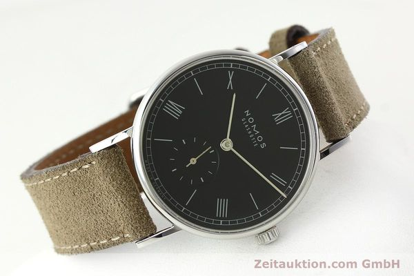 Used luxury watch Nomos Ludwig steel manual winding Kal. Alpha 73916  | 142410 03