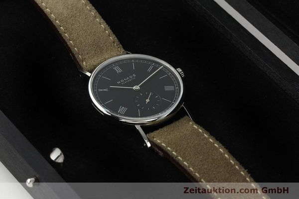 Used luxury watch Nomos Ludwig steel manual winding Kal. Alpha 73916  | 142410 07