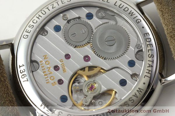 Used luxury watch Nomos Ludwig steel manual winding Kal. Alpha 73916  | 142410 11