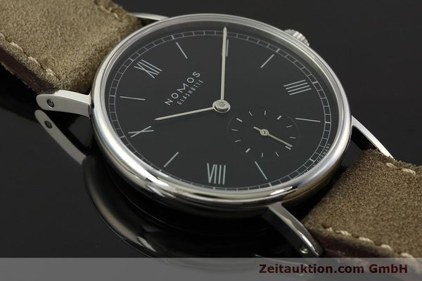 Used luxury watch Nomos Ludwig steel manual winding Kal. Alpha 73916  | 142410 15