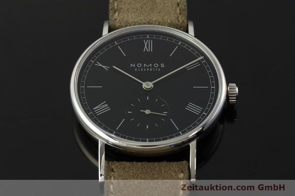Used luxury watch Nomos Ludwig steel manual winding Kal. Alpha 73916  | 142410 16