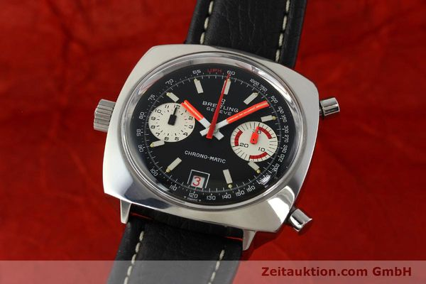 Used luxury watch Breitling Chrono-Matic chronograph steel automatic Kal. 112 Ref. 2111  | 142415 04