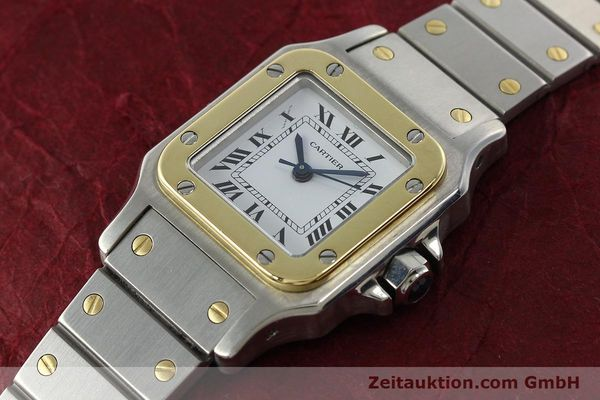Used luxury watch Cartier Santos steel / gold automatic Kal. ETA 2670  | 142426 01