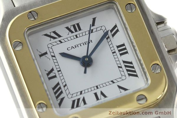 Used luxury watch Cartier Santos steel / gold automatic Kal. ETA 2670  | 142426 02