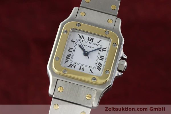 Used luxury watch Cartier Santos steel / gold automatic Kal. ETA 2670  | 142426 04