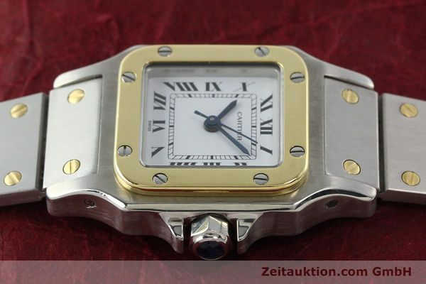 Used luxury watch Cartier Santos steel / gold automatic Kal. ETA 2670  | 142426 05