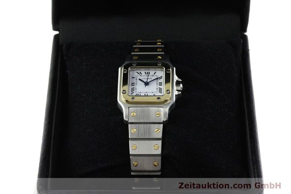 Used luxury watch Cartier Santos steel / gold automatic Kal. ETA 2670  | 142426 07