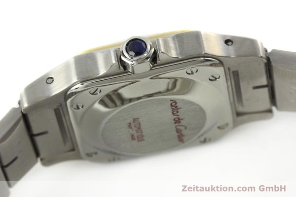 Used luxury watch Cartier Santos steel / gold automatic Kal. ETA 2670  | 142426 08