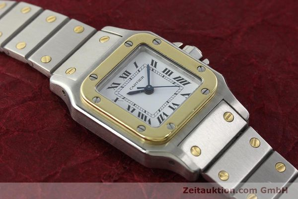 Used luxury watch Cartier Santos steel / gold automatic Kal. ETA 2670  | 142426 13