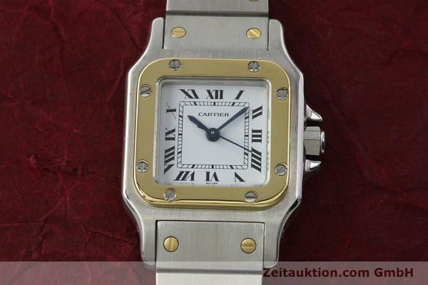 Used luxury watch Cartier Santos steel / gold automatic Kal. ETA 2670  | 142426 14