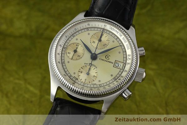 gebrauchte Luxusuhr Chronoswiss Pacific Chronograph Stahl Automatik Kal. VAL 7750 Ref. 1333  | 142427 04