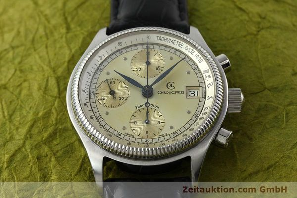 Used luxury watch Chronoswiss Pacific chronograph steel automatic Kal. VAL 7750 Ref. 1333  | 142427 14
