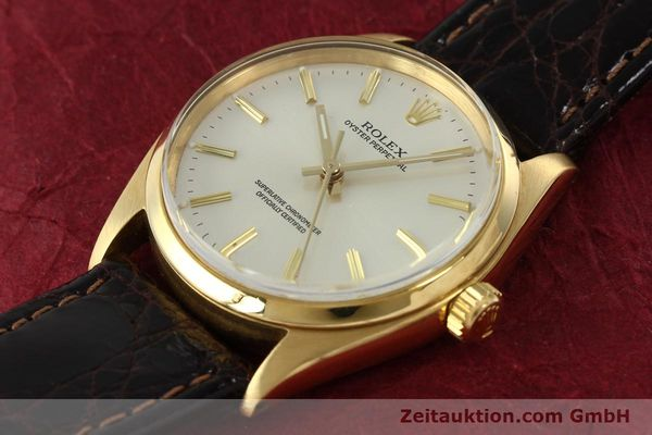 Used luxury watch Rolex Oyster Perpetual 18 ct gold automatic Kal. 1560 Ref. 1005/1002  | 142429 01