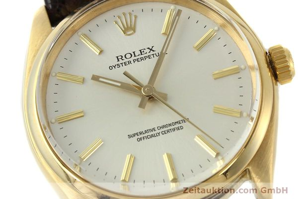 Used luxury watch Rolex Oyster Perpetual 18 ct gold automatic Kal. 1560 Ref. 1005/1002  | 142429 02