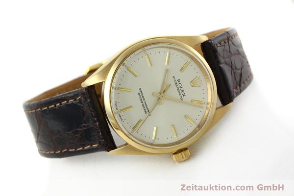 Used luxury watch Rolex Oyster Perpetual 18 ct gold automatic Kal. 1560 Ref. 1005/1002  | 142429 03