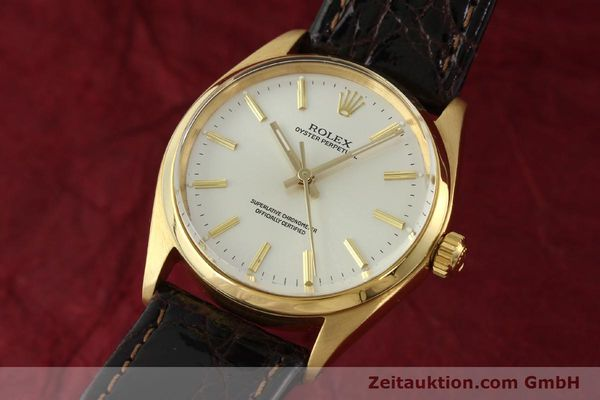 Used luxury watch Rolex Oyster Perpetual 18 ct gold automatic Kal. 1560 Ref. 1005/1002  | 142429 04