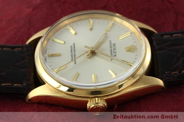 Used luxury watch Rolex Oyster Perpetual 18 ct gold automatic Kal. 1560 Ref. 1005/1002  | 142429 05