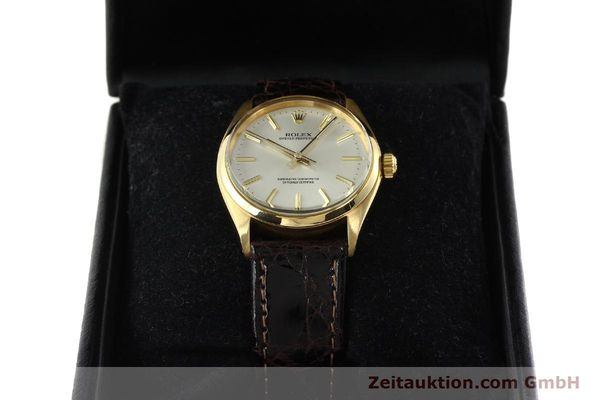 Used luxury watch Rolex Oyster Perpetual 18 ct gold automatic Kal. 1560 Ref. 1005/1002  | 142429 07