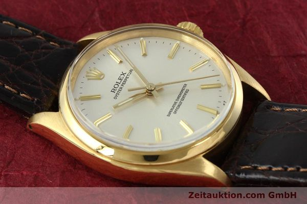 Used luxury watch Rolex Oyster Perpetual 18 ct gold automatic Kal. 1560 Ref. 1005/1002  | 142429 12