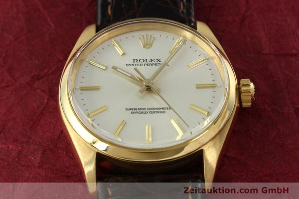 Used luxury watch Rolex Oyster Perpetual 18 ct gold automatic Kal. 1560 Ref. 1005/1002  | 142429 13