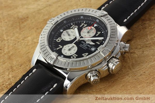 Used luxury watch Breitling Avenger chronograph steel automatic Kal. B13 ETA 7750 Ref. A13370  | 142430 01