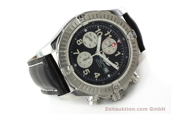 Used luxury watch Breitling Avenger chronograph steel automatic Kal. B13 ETA 7750 Ref. A13370  | 142430 03