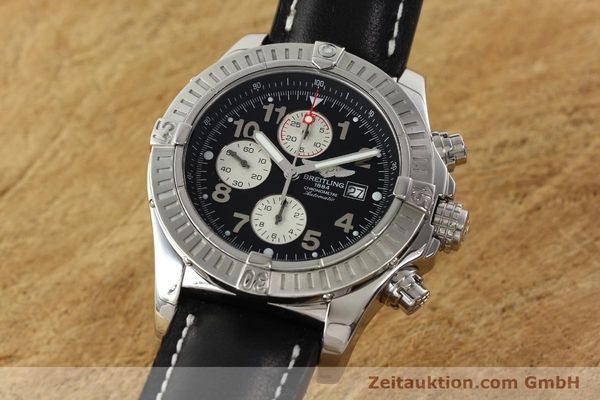 Used luxury watch Breitling Avenger chronograph steel automatic Kal. B13 ETA 7750 Ref. A13370  | 142430 04