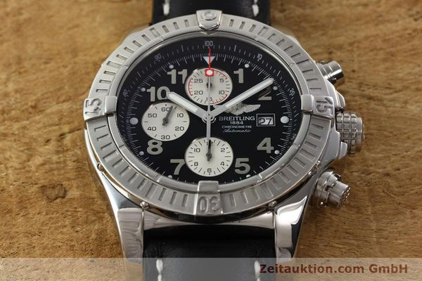 Used luxury watch Breitling Avenger chronograph steel automatic Kal. B13 ETA 7750 Ref. A13370  | 142430 14
