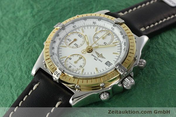 Used luxury watch Breitling Chronomat chronograph steel / gold automatic Kal. B13 ETA 7750 Ref. D13048  | 142433 01