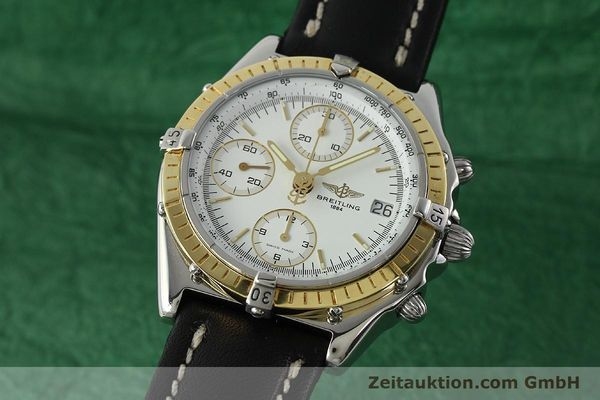 Used luxury watch Breitling Chronomat chronograph steel / gold automatic Kal. B13 ETA 7750 Ref. D13048  | 142433 04