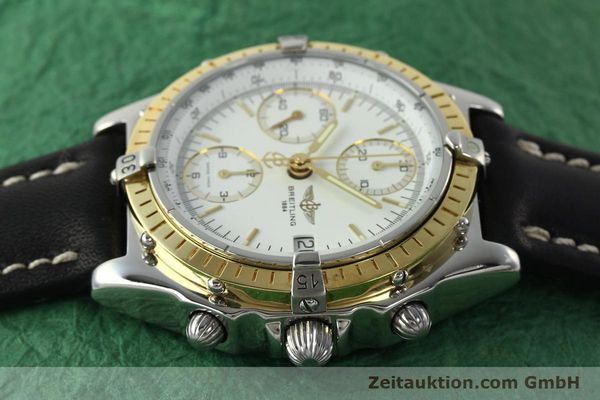 Used luxury watch Breitling Chronomat chronograph steel / gold automatic Kal. B13 ETA 7750 Ref. D13048  | 142433 05