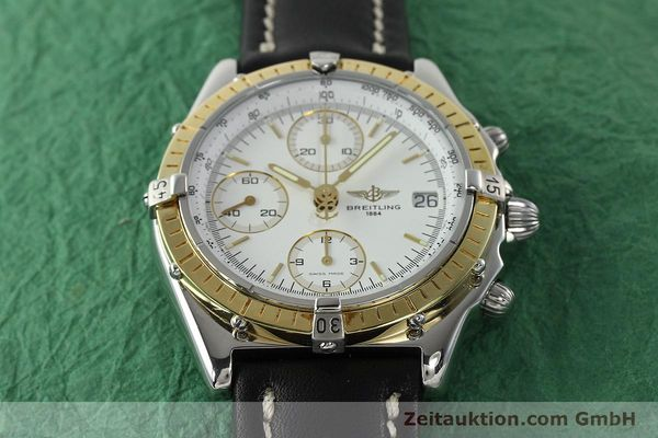 Used luxury watch Breitling Chronomat chronograph steel / gold automatic Kal. B13 ETA 7750 Ref. D13048  | 142433 14