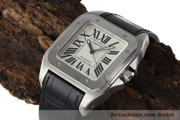 Used luxury watch Cartier Santos 100 steel automatic Kal. 49 ETA 2892-2  | 142438 01