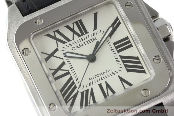 Used luxury watch Cartier Santos 100 steel automatic Kal. 49 ETA 2892-2  | 142438 02