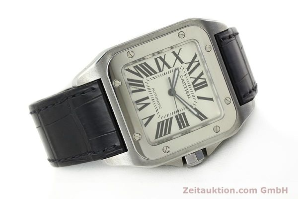 Used luxury watch Cartier Santos 100 steel automatic Kal. 49 ETA 2892-2  | 142438 03