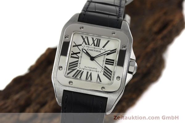 Used luxury watch Cartier Santos 100 steel automatic Kal. 49 ETA 2892-2  | 142438 04